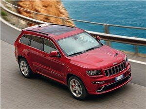 Jeep Grand Cherokee SRT8 2012 вид сверху