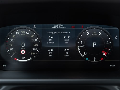 Land Rover Defender 110 (2020)приборная панель