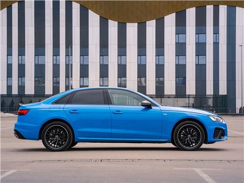 Audi A4 (2020) вид сбоку