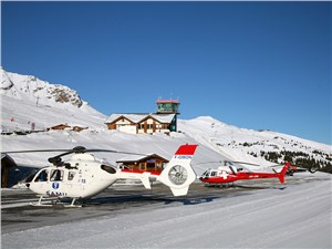 На аэродроме есть место и для спасательных, и для частных вертолетов