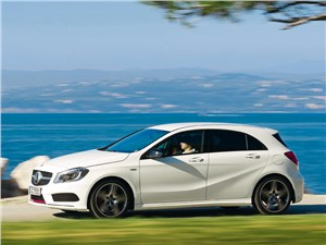Mercedes-Benz A-Class - Mercedes-Benz А-Klasse 2013 вид сбоку