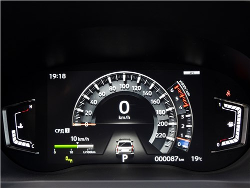 Mitsubishi Pajero Sport (2020) приборная панель