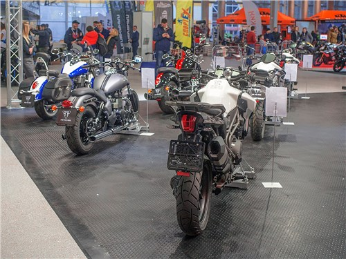 Мотоциклы британской марки Triumph на московской выставке традиционно представляет ее российский дилер – компания «Гранмото»