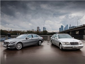 Mercedes-Benz S-Class - mercedes-benz s 500 long w222 и w140 вид спереди