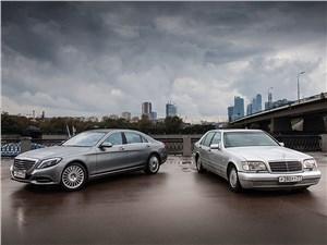 Mercedes-Benz S-Class - mercedes-benz s 500 long w222 и w140 вид спереди