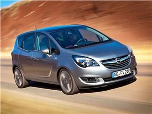 Большие возможности в малом формате (Citroen C3 Picasso,Honda Jazz,Nissan Note,Opel Meriva,Hyundai Matrix,Skoda Roomster) Meriva - Opel Meriva 2013 вид спереди 3/4