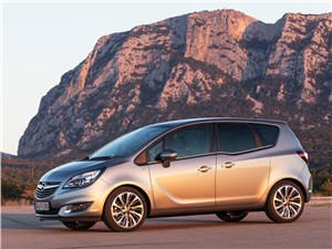 Большие возможности в малом формате (Citroen C3 Picasso,Honda Jazz,Nissan Note,Opel Meriva,Hyundai Matrix,Skoda Roomster) Meriva - Opel Meriva 2013 вид сбоку