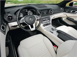 Летом лучше без крыши (Обзор российского рынка открытых автомобилей - 2007) SL-Class - Mercedes-Benz SL 500 2012 водительское место