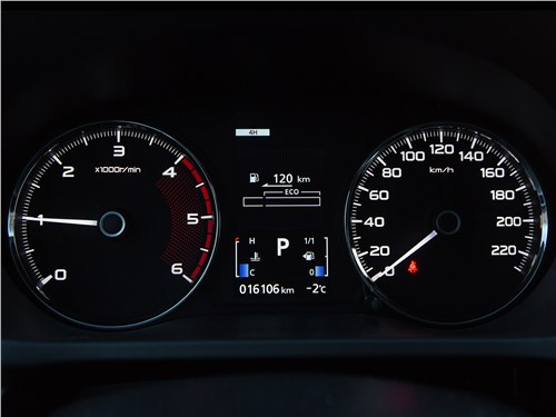 Mitsubishi Pajero Sport 2017 приборная панель