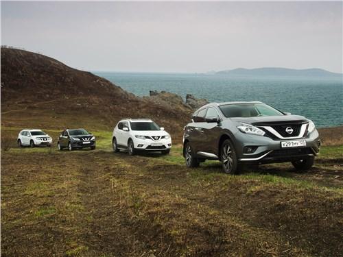Hаносим левым рулем кроссоверов Nissan удар по бездорожью и разгильдяйству в Приморье