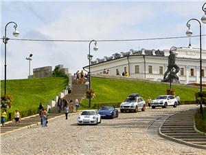 Porsche возле Казанского кремля