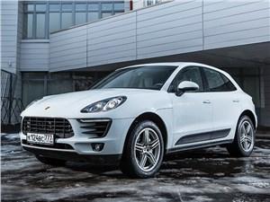 Porsche Macan 2014 вид спереди