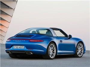 Porsche 911 Targa 2014 вид сзади открытый