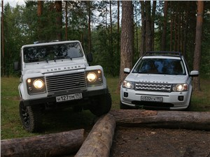 Land Rover Defender 90, Land Rover Freelander - land rover defender и land rover freelander 2