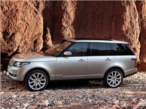 Двое на одного (BMW X1 (2012), Audi Q3 (2012), Range Rover Evogue (2012)) Range Rover - Land Rover Range Rover 2013 вид сбоку