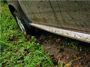 Renault Duster 2012 тормозной путь по грязи