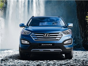 Hyundai Santa Fe - hyundai santa fe 2012 вид спереди