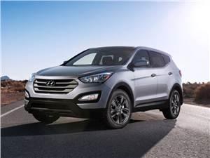 Новый Hyundai Santa Fe - Hyundai Santa Fe 2012 вид спереди