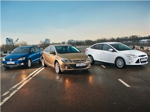 Ford Focus, Opel Astra, Volkswagen Jetta