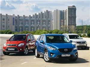 Ford Kuga, Mazda CX-5, Volkswagen Tiguan - сравнительный тест mazda cx-5, ford kuga, volkswagen tiguan