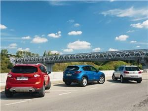 Сравнительный тест Mazda CX-5, Ford Kuga, Volkswagen Tiguan