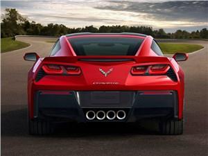 Предпросмотр chevrolet corvette stingray c7 2013 вид сзади