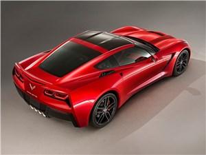 Предпросмотр chevrolet corvette stingray c7 2013 вид сверху