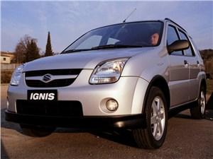 Промежуточное звено (Fiat Panda, Suzuki Ignis, Suzuki Liana, Subaru Impreza) Ignis - Suzuki Ignis 2004 вид спереди слева фото 4