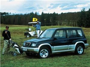 По асфальту и не только (Land Rover Freelander, Nissan X-Trail, Suzuki Grand Vitara) Grand Vitara - Suzuki Vitara 5d первого поколения вид спереди слева