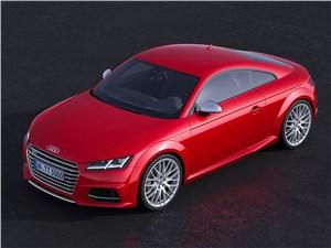 Audi TTs 2014 вид спереди сверху