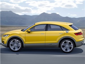 Audi TT Offroad - Audi TT Offroad Concept 2014 вид сбоку