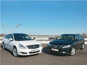 Nissan Teana - сравнительный тест toyota camry, и nissan teana