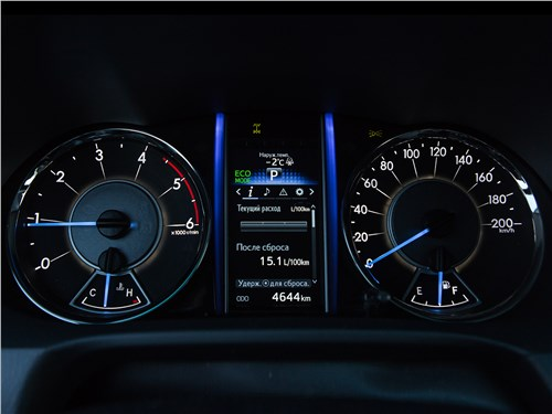 Toyota Fortuner 2016 приборная панель