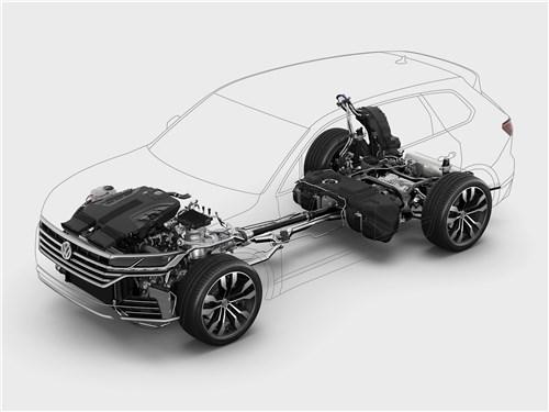 Volkswagen Touareg 2019 ходовая часть