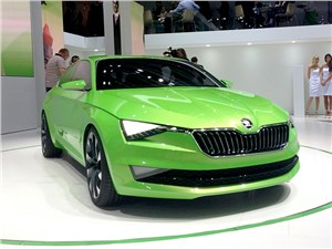 Skoda Vision C Concept 2014 вид спереди