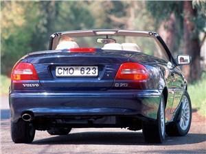 Предпросмотр volvo c70 2001 в кузове кабриолет вид справа сзади с открытой крышей