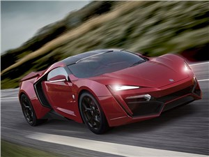 Новый W Motors Lykan Hypersport - W Motors Lykan Hypersport 2013 красный вид спереди