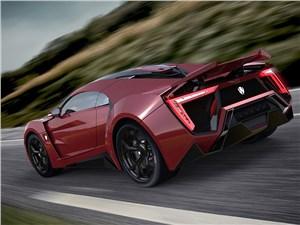 Предпросмотр w motors lykan hypersport 2013 красный вид сзади