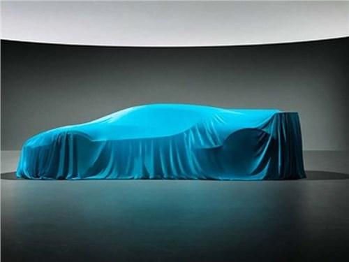 Bugatti показала силуэт нового суперкара