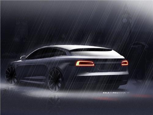 Рассекречен облик универсала на базе Tesla Model S
