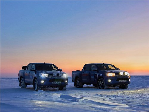 Пикапы Toyota установили рекорд Гиннесса на Крайнем Севере