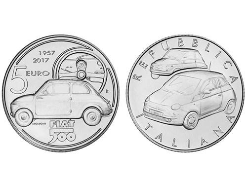 Классический Fiat 500 попал на монету 5 евро