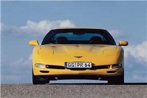 Предпросмотр chevrolet corvette 2001 в кузове тарга вид спереди