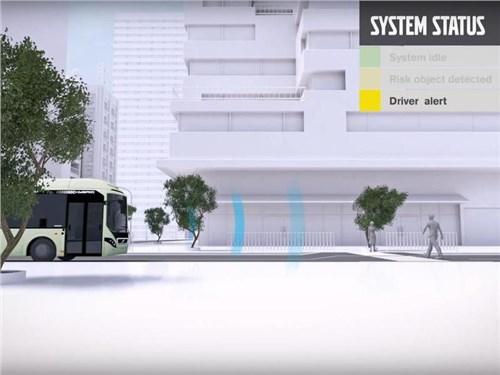 Volvo представила сигнальную систему для электрических автобусов