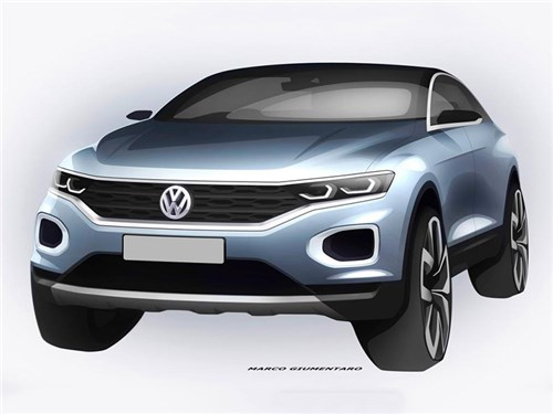 Volkswagen показал первое изображение своего нового кроссовера