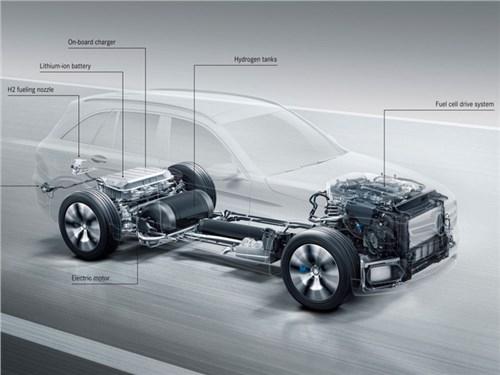 Новость про Mercedes-Benz GLC - Mercedes-Benz представил концепт нового водородного кроссовера