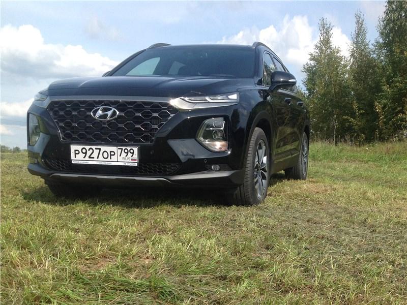 Hyundai Santa Fe - hyundai santa fe 2019 походка внедорожника, комфорт бизнес-седана