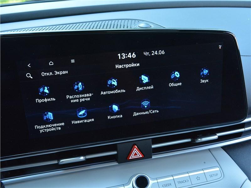 Hyundai Elantra (2021) монитор
