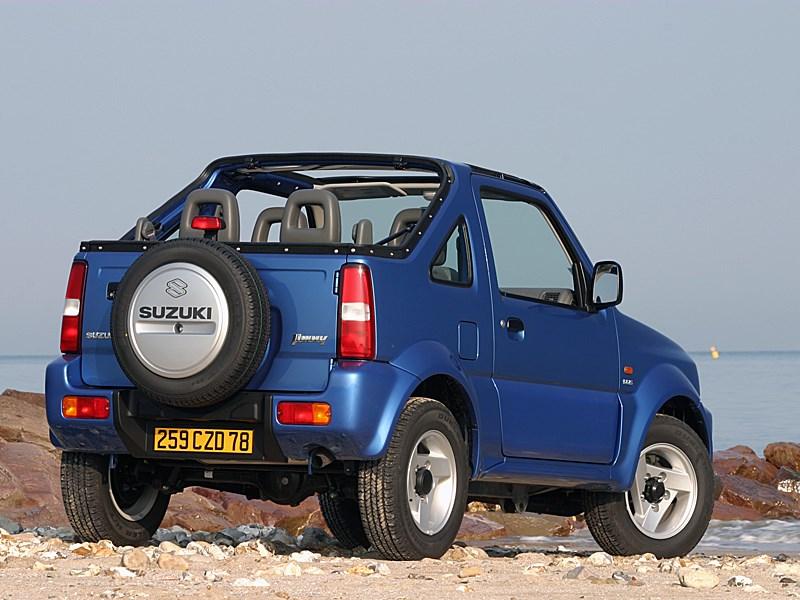 Suzuki Jimny Convertible 2004 вид сзади справа