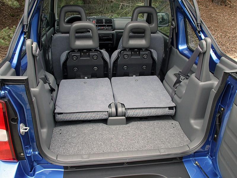 Suzuki Jimny Convertible 2004 салон вид сзади
